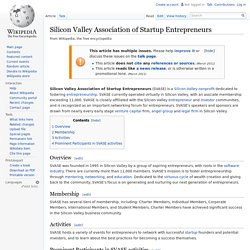 Silicon Valley Association of Startup Entrepreneurs