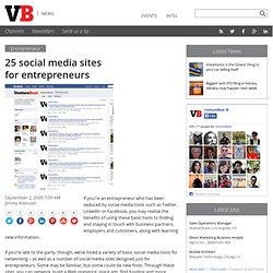 25 social media sites for entrepreneurs