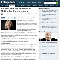 Richard Branson on Decision-Making For Entrepreneurs