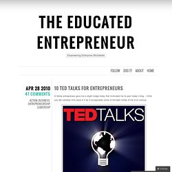 The Educated Entrepreneur's Blog