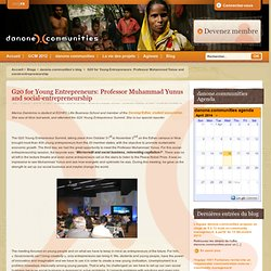 G20 for Young Entrepreneurs: Professor Muhammad Yunus and social-entrepreneurship