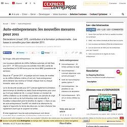 Auto-entrepreneurs: les nouvelles mesures pour 2011