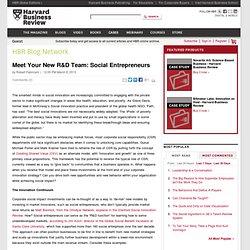 Meet Your New R&D Team: Social Entrepreneurs - Robert Fabricant