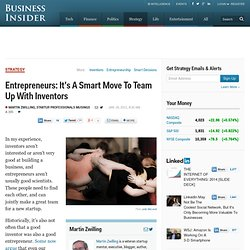 Entrepreneurs: It's A Smart Move To Team Up With Inventors