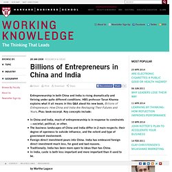 Billions of Entrepreneurs in China and India
