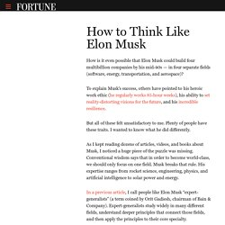 How Elon Musk Learns Faster And Better Than Everyone Else – The Mission – Medium