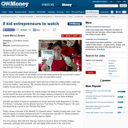 8 kid entrepreneurs to watch - Lizzie Marie Likness (4) - CNNMoney
