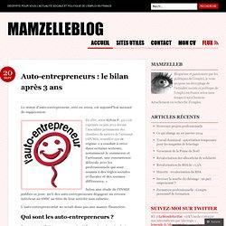Auto-entrepreneurs : le bilan après 3 ans