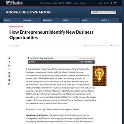 How Entrepreneurs Identify New Business Opportunities