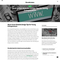 Must-Know Website Design Tips for Young Entrepreneurs