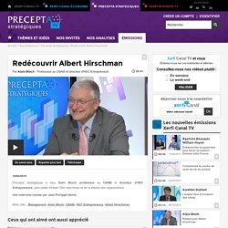 Alain Bloch, HEC Entrepreneurs - Redécouvrir Albert Hirschman