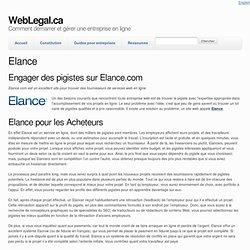 Elance.com Pigistes Recherchés - Site freelance pour entrepreneurs et travailleurs autonomes