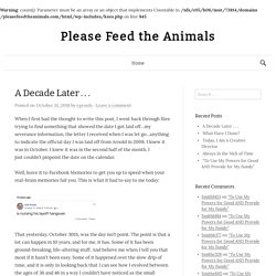 Please Feed The Animals › A Blog For The Recently Unemployed Adv