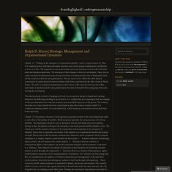 Ralph D. Stacey; Strategic Management and Organisational Dynamics « Tværfaglighed i Entrepreneurship