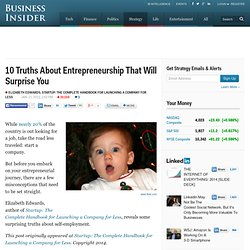 surprising truths and misconceptions about entrepreneurship