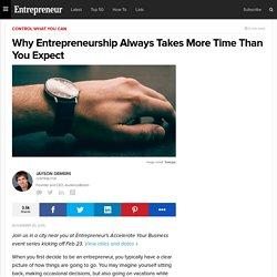 Why Entrepreneurship Always Takes More Time Than You Expect