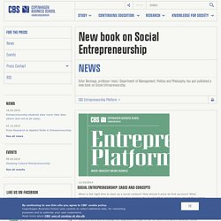 New book on Social Entrepreneurship