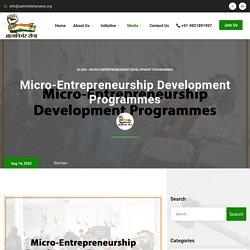 Micro-Entrepreneurship Development Programmes - Aatmnirbhar Sena