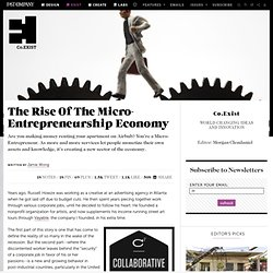 The Rise Of The Micro-Entrepreneurship Economy