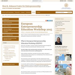 European Entrepreneurship Education Workshop 2015