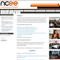 NCEE - National Centre for Entrepreneurship in Education