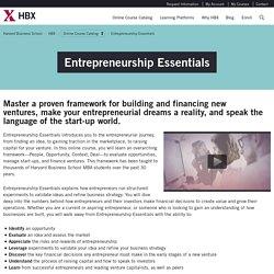 Entrepreneurship Essentials - HBX - Harvard Business School