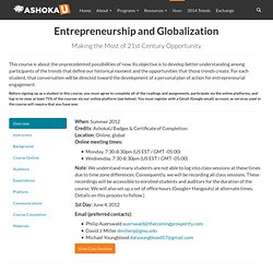 Entrepreneurship and Globalization