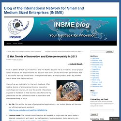 Blog of the International Network for Small and Medium Sized Enterprises (INSME)