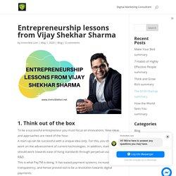 Entrepreneurship lessons from Vijay Shekhar Sharma - Invincible Lion