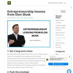 Entrepreneurship lessons from Elon Musk - Invincible Lion