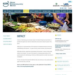 Impact :: GEM Global Entrepreneurship Monitor ::