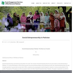 Social Entrepreneurship in Pakistan