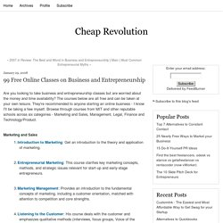 99 Free Online Classes on Business and Entrepreneurship