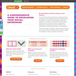Free Social entrepreneurship toolkit and advice from UnLtd.