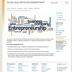 Silicon Valley Center for Entrepreneurship