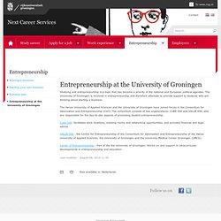 Entrepreneurship at the University of Groningen