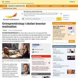 Entreprenörskap i skolan boostar motivation