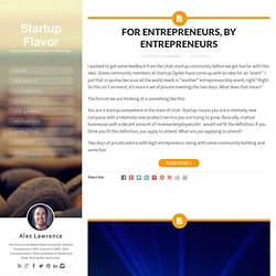 Startup Flavor — tips to start and grow a great business