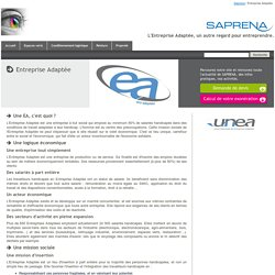 Entreprise Adaptée / Saprena - Saprena