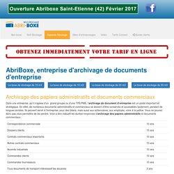 Entreprise d'archivage de documents d'entreprise, archivage de papiers administratifs : Abriboxe