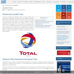 Entreprise Total : Chiffre d'affaires et résultats de l'action Total