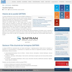 Entreprise Safran : Chiffre d'affaires et résultats de l'action Safran