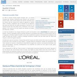 Entreprise L'Oréal: Chiffre d'affaires et réultats de l'action L'Oréal