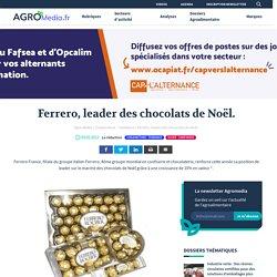 L'entreprise agroalimentaire Ferrero reste leader du marché des chocolats de Noël.