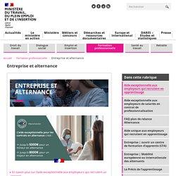 Entreprise et alternance - Ministère du Travail, de l'Emploi et de l'Insertion