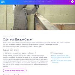 Création entreprise Escape Game : Franchise, Décor, Architecte