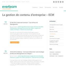 La gestion de contenu d'entreprise - ECM Archives - everteam/fr