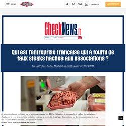 Qui est l'entreprise française qui a fourni de faux steaks hachés aux associations?
