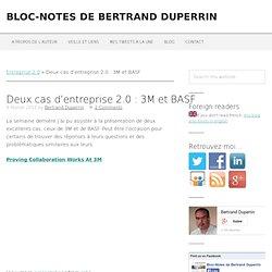 Deux cas d'entreprise 2.0 : 3M et BASF