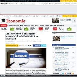 """Les """"Facebook d'entreprise"""" bousculent la hiérarchie à la française"""